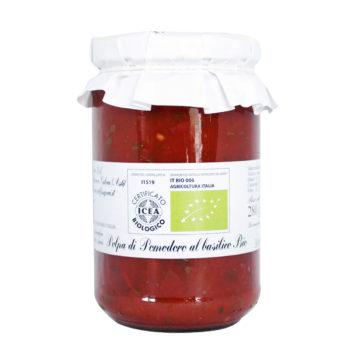 Scopri la polpa di pomodoro al basilico BIO. Gusta le tue basi pizza precotte preferite con ingredienti artigianali.